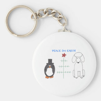 Poodle Peace On Earth Keychain