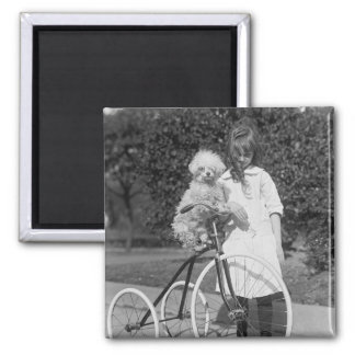 Poodle Perch, 1913 2 Inch Square Magnet
