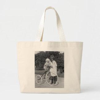 Poodle Perch 1913 Canvas Bags
