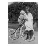 Poodle Perch, 1913 Greeting Card