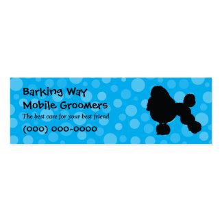 Poodle Pet Care Blue Business Card Template