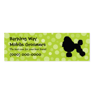 Poodle Pet Care Lime Business Card Template