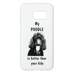 Case-Mate Barely There Samsung Galaxy S7 Case with Poodle Phone Cases design