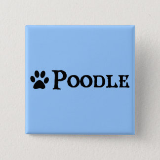 Poodle (pirate style w/ pawprint) button