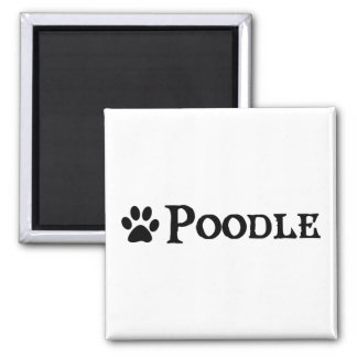 Poodle (pirate style w/ pawprint) magnet