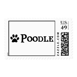 Poodle (pirate style w/ pawprint) postage