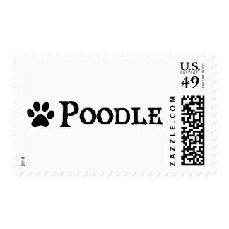 Poodle (pirate style w/ pawprint) postage stamp