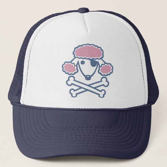 Poodle Pirate Trucker Hat