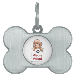 POODLE PLEASE ADOPT PET ID TAGS