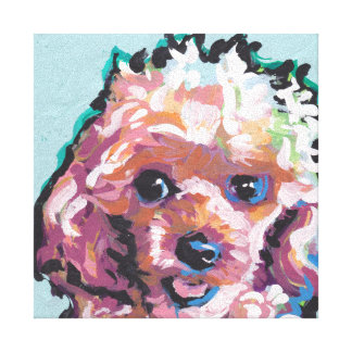 poodle Pop Art on Stretched Canvas