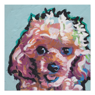 poodle Pop Art Poster