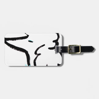 Poodle Portrait Luggage Tag