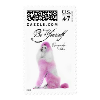 Poodle Postage Stamp