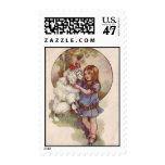 Poodle Postage Stamp Vintage