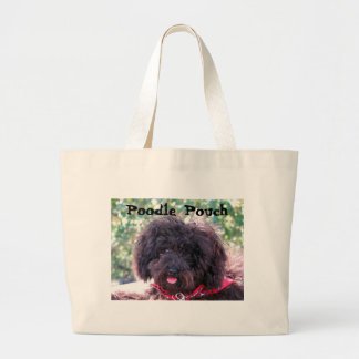 Poodle Pouch Large Tote Bag