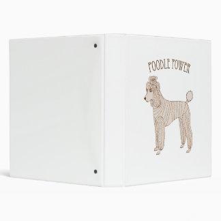 Poodle Power Binder