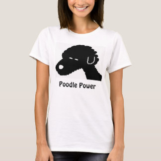 Poodle Power Black Dog T-Shirt