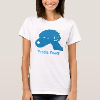 Poodle Power Blue Dog T-Shirt