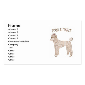 Poodle Power Business Card