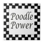 Poodle Power Ceramic Tile