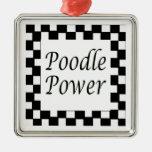 Poodle Power Christmas Ornaments