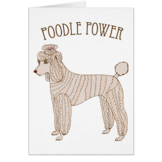 Poodle Power Greeting Card