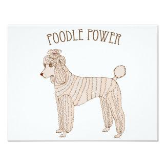 Poodle Power Invitation