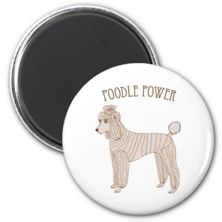 Poodle Power Magnet