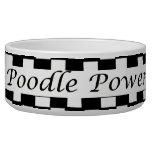 Poodle Power Pet Food Bowl