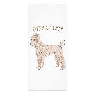 Poodle Power Rack Card