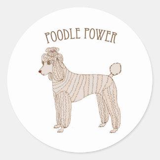 Poodle Power Sticker