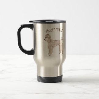 Poodle Power Travel Mug