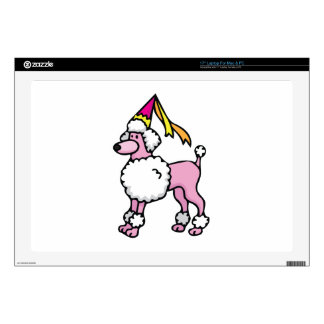 "Poodle Princess Decals For 17"" Laptops"