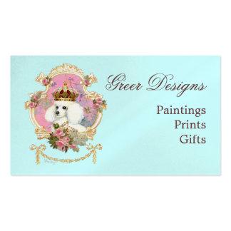 Poodle Princess n Pink Roses Business Card Templates