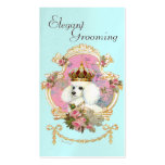 Poodle Princess n Pink Roses Business Cards