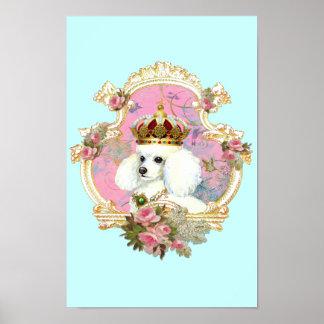 Poodle Princess n Pink Roses Poster