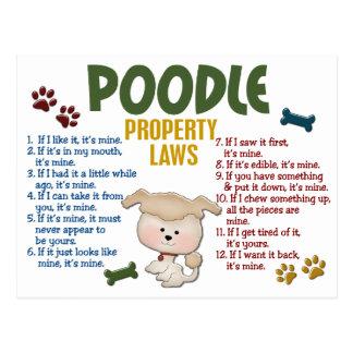 Poodle Property Laws 4 Postcard