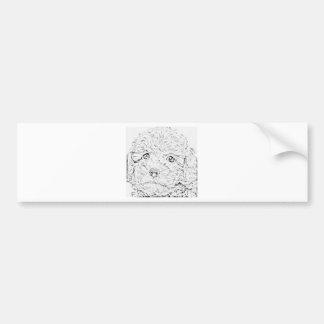 Poodle puppy bumper sticker
