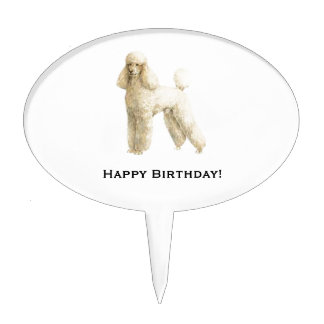 Poodle -- Puppy Clip Cake Topper