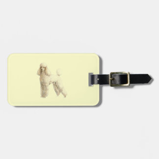 Poodle -- Puppy Clip Travel Bag Tags