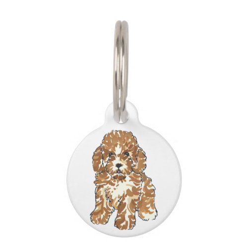 Poodle Puppy Pet ID Tag