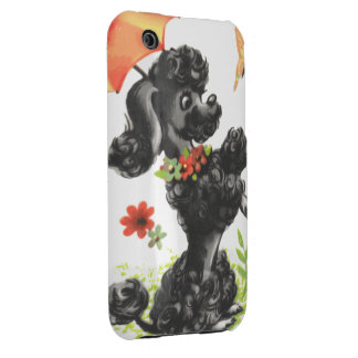 poodle puppy with umbrella iPhone 3 case