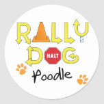 Poodle Rally Dog Classic Round Sticker