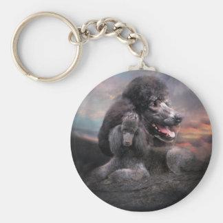 Poodle Rock Keychain