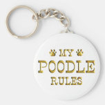 Poodle Rules Gold Key Chain