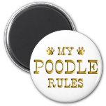 Poodle Rules Gold Refrigerator Magnet