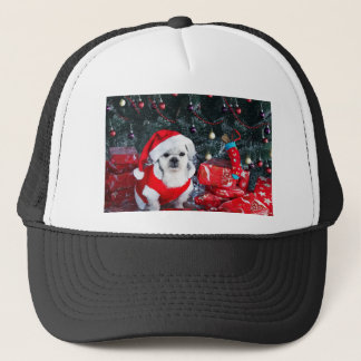 Poodle santa - christmas dog - santa claus dog trucker hat