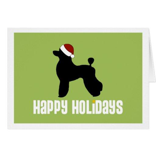 Poodle Santa Hat Cards