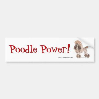 Poodle -- Show Coat Bumper Sticker