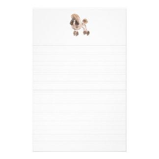 Poodle -- Show Coat: Lined paper